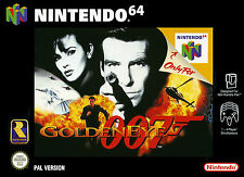 A4 Nintendo 64 Game Print – Golden Eye 007 (Gaming Arcade Classic Picture Art)
