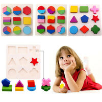 Geometry Educational Toys Puzzle Kids Baby 3D Montessori Wooden Learning HOUSE