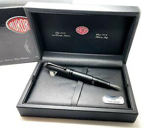 Aurora 88 Unica Fountain Pen Full Total Black, NEW! (#WGP113)