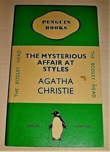 Agatha Christie THE MYSTERIOUS AFFAIR AT STYLES Facsimile 1st Penguin 1935