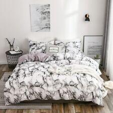 Marble Bed Sets Printed White / Black Duvet Cover Bedding Set European Size King