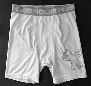 Under Armour HeatGear Fitted Shorts Boys' XL (18-20) White EUC