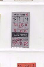 1967 9/26 baseball ticket Detroit Tigers v New York Yankees Eddie Mathews RBI