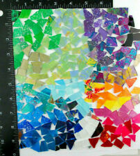 NEW 1/2 pound bag of MIXED COLOR SCRAPS!   Glass Mosaic Tile by Makena Tile