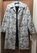 NWT NEW Womens size 8 Amanda Smith suit coat jacket lined floral print $200