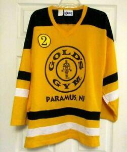 GOLD'S GYM Jersey Vintage yellow and black XL Paramus NJ