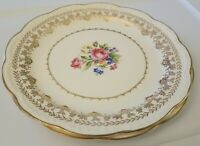 Stetson American Beauty 22kt Gold Dinnerware Floral Dinner Plates 2 Set