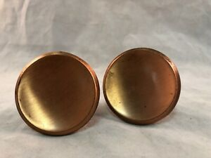 """2 Vintage Heavy Copper Drawer Pull Cabinet Handle Knobs Patina 2"""""""