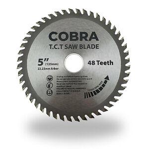 """COBRA 5"""" / 125mm Circular Aluminium Cutting Saw Blade Disc - 1 Each - Meat Axe"""