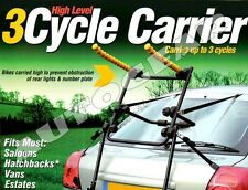 Cycle Carrier High level Carries up to 3 Cycles Fits Most Sallons,Hatchbacks,Van