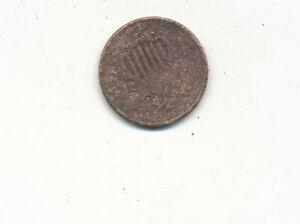 D5253   1868 5 CENT SHIELD NICKEL  U/GRADE