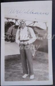 1934 Al Williams Pilot Signed Photo Record Holding Pilot 578