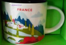 New With Box Starbucks You Are Here YAH FRANCE Mug 14oz. Coffee Cup US Seller