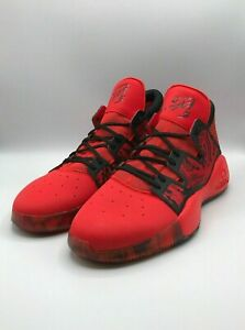 adidas Men's 13 Pro Vision Select Donovan Mitchell Red Sneakers Shoes EE6867