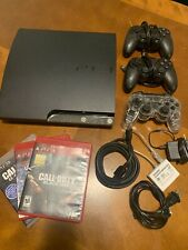 SONY PLAYSTATION 3 SLIM 160GB GAME CONSOLE BUNDLE!! 3 CONTROLLERS! BLACK OPS 1