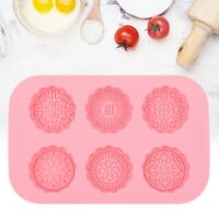 6 Slots Mold Pastry Flower Mooncake Moon Mould Cake Round DIY Decor Cookies