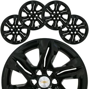 "4 Black 2019-2021 Chevrolet Blazer L LT 18"" Wheel Skins Hub Caps Full Rim Covers"