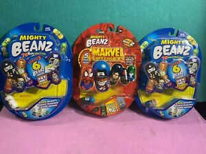 Mighty Beanz  Series 2 & Marvel Super Heroes (Lot of 3 Total) NEW NRFB