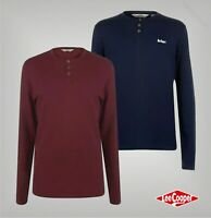 Mens Lee Cooper Essentials Long Sleeve Top Grandad T Shirt Sizes from S to XXXL