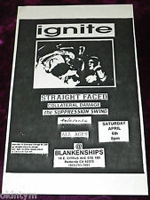 RARE 1996 IGNITE FLYER STRAIGHT FACED COLLATERAL DAMAGE @ BLANKENSHIPS HARDCORE!