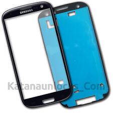 Bildschirm Glas für Samsung Galaxy S3 i9300 SIII Schwarz Mit Klebe
