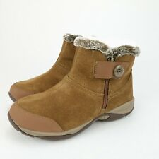 Easy Spirit Womens Eliria Suede Faux Fur Lined Ankle Boots Shoes Size 6 WIDE