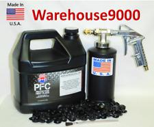 Gallon PFC Rust Proofing Pro Undercoating Spray Gun Kit w/ 1 Bottle 100 plugs
