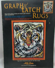 Mcg Textiles Graph N' Latch Rug Pattern Tiger #37515