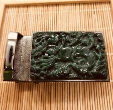 Vintage Style Gift Burma Green Color Jade Belt Buckle (JBB35)