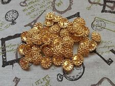 50 Metal Buttons Gold Shank 20mm Blazer Cardigan job lot Arts & Crafts (220)