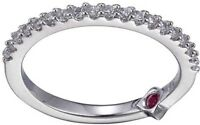 ELLE Jewelry - Sterling Silver CZ Stackable Ring