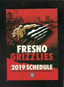 Fresno Grizzlies--2019 Pocket Schedule--Heineken--Nationals Affiliate