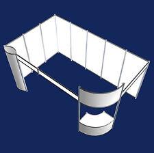Messestand 4x5 Meter Eckstand  mit Tower-Display und Oval-Theke   Stand 35