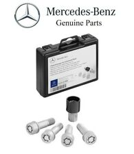 Silver Wheel Locks w/ Key Genuine For Mercedes Benz X164 X166 GL GLS Class