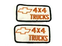 LOT OF 2 Vintage Chevrolet 4x4 Trucks Fabric Patches CHEVY