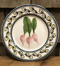 Beautiful Vintage Hand Painted Conimbricer Olivia Made In Portugal Radish Plate