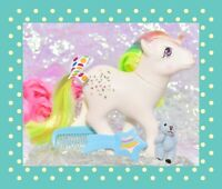 ❤️My Little Pony G1 Vtg Rainbow Ponies CONFETTI Glitter Original Brush Comb❤️