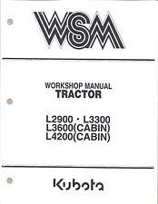 Kubota L2900, L3300, L3600, L4200 Workshop Service Repair Manual