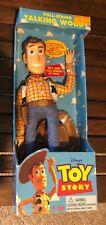 "1995 Disney Original Toy Story 16"" Talking Woody Pull String ThinkWay Toys NIB"