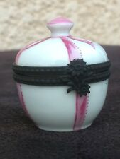 Petite Boîte Porcelaine Limoges Peinte Michelaud Lucien ? Antique Porcelain Box