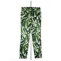 MARCCAIN Damen Stretch Jeans Hose slim fit W28 L30 Gr.N1 / S grün gemustert NEU