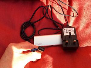 Belkin USB 3.0 4-Port Hub Mains Powered