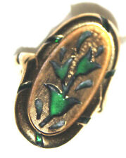 STUNNING CROWN TRIFARI SIGNED RARE ORIENT RING EXCELLENT STYLE AND DETAIL-WOW