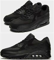 Nike Air Max 90 Mens Trainers Black Multi-Layer Suede Leather Mesh Size 6-14 UK