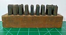 "Machinist Steel Stamping Set Alphabet Letters A–Z 3/16"" GA-238 Vintage"