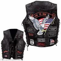"Gilet jacket en cuir "" Aigle / Live To Ride "" - S M L XL 2XL 3XL 4XL 5XL 6XL 7XL"