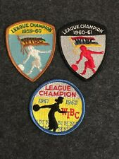 Lot Of 3 Bowling Patches - Wibc Womens Bowling 1959-60 , 1960-61 , 1961-62 Lot#8
