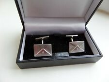 postage envelope stone set Pair 925 silver cufflinks