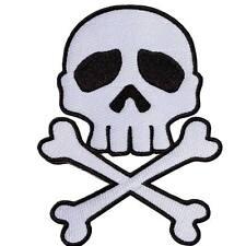 Kreepsville 666 Skull N Crossbones White Black Patch