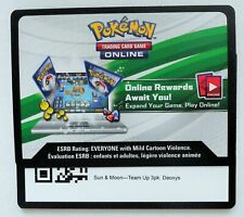 Deoxys SM164 Online Code Card-Pokemon Sun & Moon Temp Up 3pk Blister (MESSAGED)